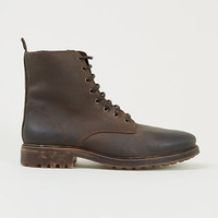 Martial Brown premium soft leather synthetic fur-lined boots - Boots - Shoes and Accessories
