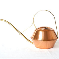 COPPER WATERING CAN, Made by Sigg Switzerland, Brass Handle and Spout, German Mid Century Modern, Made in 1960s