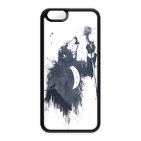 Wolf Song 3 Black Silicon Case Rubber Case for Apple iPhone 6 by Balazs Solti