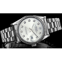 Rolex Trending Women Men Chic Silvery Quartz Watch Wrist Watch