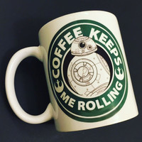 BB-8 Star Wars Coffee Mug |  The Force Awakens Starbucks |  Disney Droid BB8