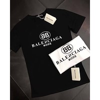 Balenciaga Women Men Cotton T-shirt