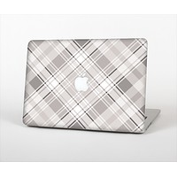 The Gray & White Plaid Layered Pattern V5 Skin Set for the Apple MacBook Air 11""