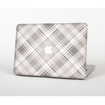 """The Gray & White Plaid Layered Pattern V5 Skin Set for the Apple MacBook Air 11"""""""