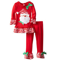 Baby girls clothing set Santa Claus shirt+pants 2 pcs.