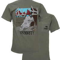 Southern Couture High Priority Deer Skull Hunt Pocket Unisex Bright T Shirt