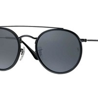 Ray Ban Double Bridge Sunglasses RB3647N 51/22 BLACK Frame, GRAY Lens