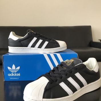 Adidas Superstar Boost Core Black White Gold BB0189 size 9 2016 OG Originals