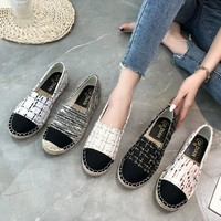 New Korean version of flat - bottomed straw rope with a joker casual cloth shoes