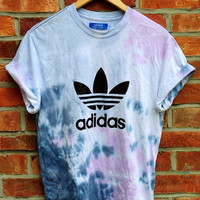 Cryptic Cult — tie dye ADIDAS originals trefoil t shirt