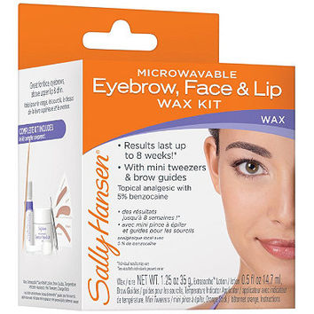 Microwavable Eyebrow, Face & Lip Wax Kit