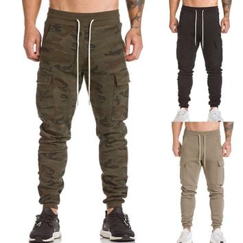 KLV Men Autumn winter Trousers Harem Sweatpants Slacks Casual Jogger Dance Sportwear Baggy Long Male Pants 9.14