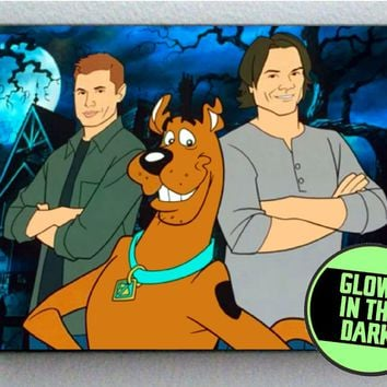 Scoobynatural Scooby Doo Dog Gang Sam Dean Supernatural Glow In The Dark Framed Cool Blacklight Mini Movie Poster
