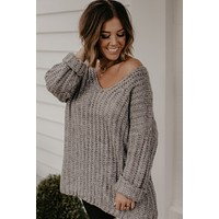 Always In Style Sweater - Grey