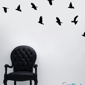 Vinyl Wall Decal Sticker Flying Birds #MCrespo101