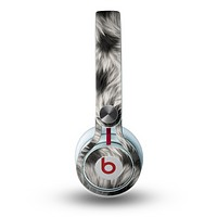 The Dotted Black & White Animal Fur Skin for the Beats by Dre Mixr Headphones