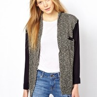 American Vintage Long Sleeved Cardigan with Shawl Neck