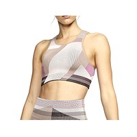 Nike Women's Seamless Light-Support Icon Clash Sports Bra Pink Brown