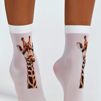Georgia Giraffe Ankle Socks