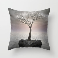 From the Withered Tree, a Flower Blooms (Tree of Solitude) Throw Pillow by soaring anchor designs ⚓   Society6