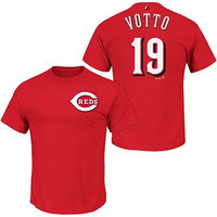 Joey Votto Cincinnati Reds #19 MLB Youth Player Name & Number T-shirt Red (Youth Medium 10/12)