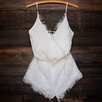 bat your lashes boho romper white