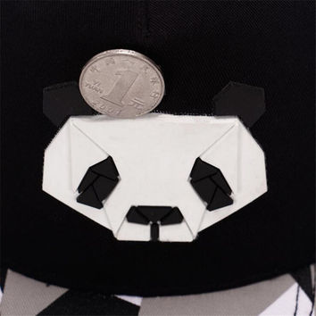 Ms. Cute Panda Zebra Rubber Lovers Baseball Cap