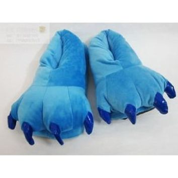 Disney Lilo and Stitch Monster Cosplay Adult Plush Slipper Blue