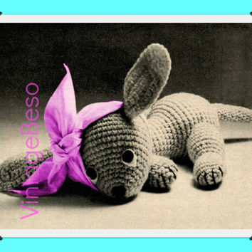 1930s Vintage Crochet Pattern   Pippy the Puppy   Get Well Gift Stuffed Toy Pattern Animal Sweet Puppy   Direct from UK