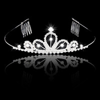 Bride/Bridesmaid/Princess/Girl Pyramid-Shaped Headband Tiara Crown with Comb