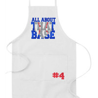 Baseball Apron, All About That Base, Mother's Day, Father's Day, Apron, BBQ Apron, Dad, BBQ, Grilling, Men's Apron