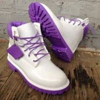 ONETOW Custom White Timberland Boots FREE SHIPPING