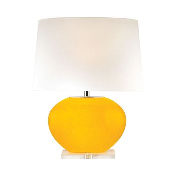 Marigold Bowl Lamp Yellow