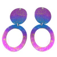 Giampouras ~ Anodized Colored Titanium Disk Earrings