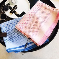 LV Women Fashion New Monogram Print Leisure Scarf Women