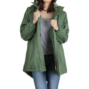 Urban Diction Hunter Green Faux-Fur Lined Anorak