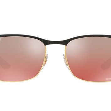 NEW SUNGLASSES RAY-BAN CHROMANCE RB8319CH in Gold