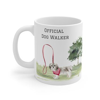 Official Dog Walker Mug — Shih Tzu