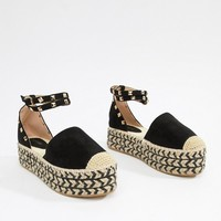PrettyLittleThing Stacked Espadrille Sandals at asos.com