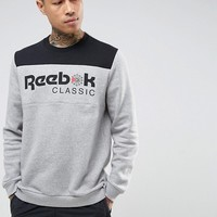 Reebok Iconic Sweatshirt In Grey BQ2649 at asos.com