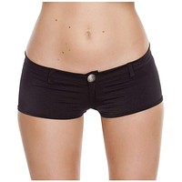 Roma Rave SH3227 - 1pc Low Rise Shorts with Button Front & Pocket Details