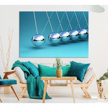 Large Wall Art Newton's Cradle Canvas Print