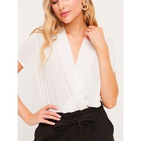 Lay On Over Bodysuit - White