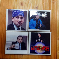 Tile Coasters The Office Michael Scott Lazy Scranton Prison Mike Threat Level Midnight Do the Scarn Best Boss