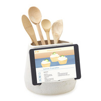 Kitchen Utensil and Tablet Holder | ipad cookbook stand