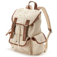 Candie's Peyton Crochet Cargo Backpack (Natural)