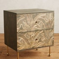 Liri Leaf Nightstand by Anthropologie in Grey Size: Nightstand Furniture
