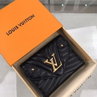 Kuyou Lv Louis Vuitton Fashion Women Men Gb19530 M63427 New Wave Compact Wallet 12.0 X 9.5x 1.5cm ~