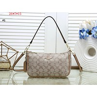 COACH 2019 new double shoulder strap classic double C handbag shoulder diagonal package #1