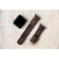 Louis Vuitton Classic LV Monogram Brown watch band for 38mm or 42mm apple watch